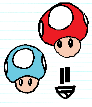Mushrooms Pixelated