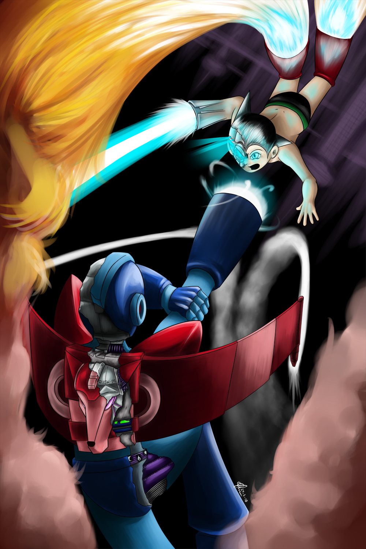 Astro Boy VS Megaman.