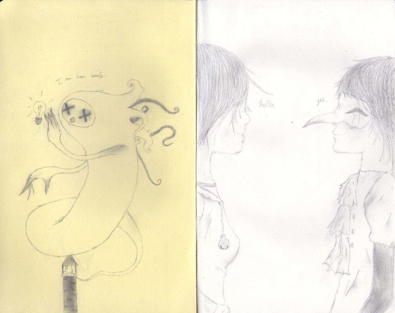 First Moleskine Drawings