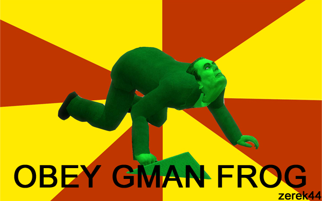 Obey the gman frog