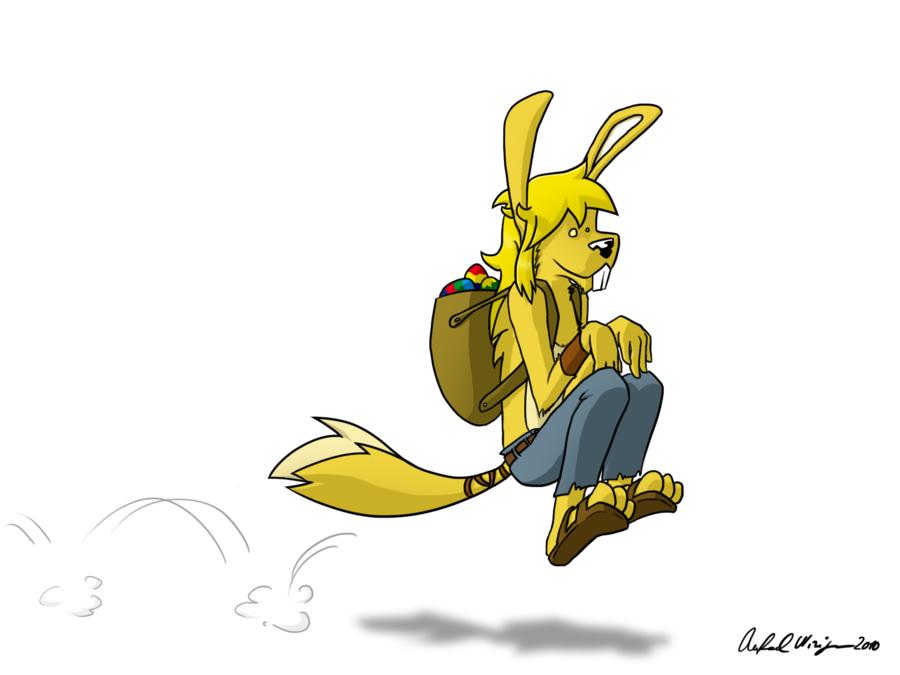 A strange easter bunny