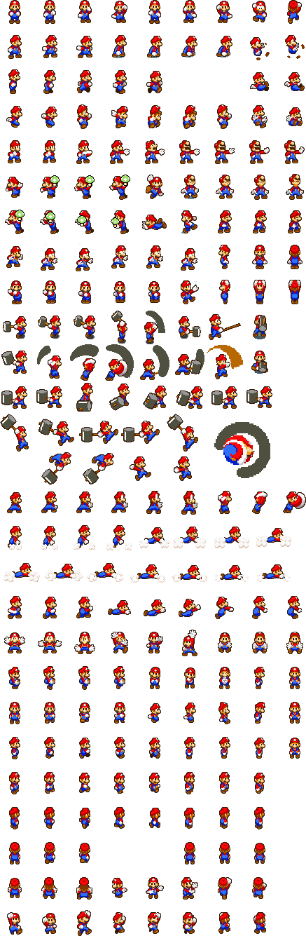 mario sprites use them if need