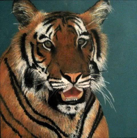 Oil Pastel Tiger