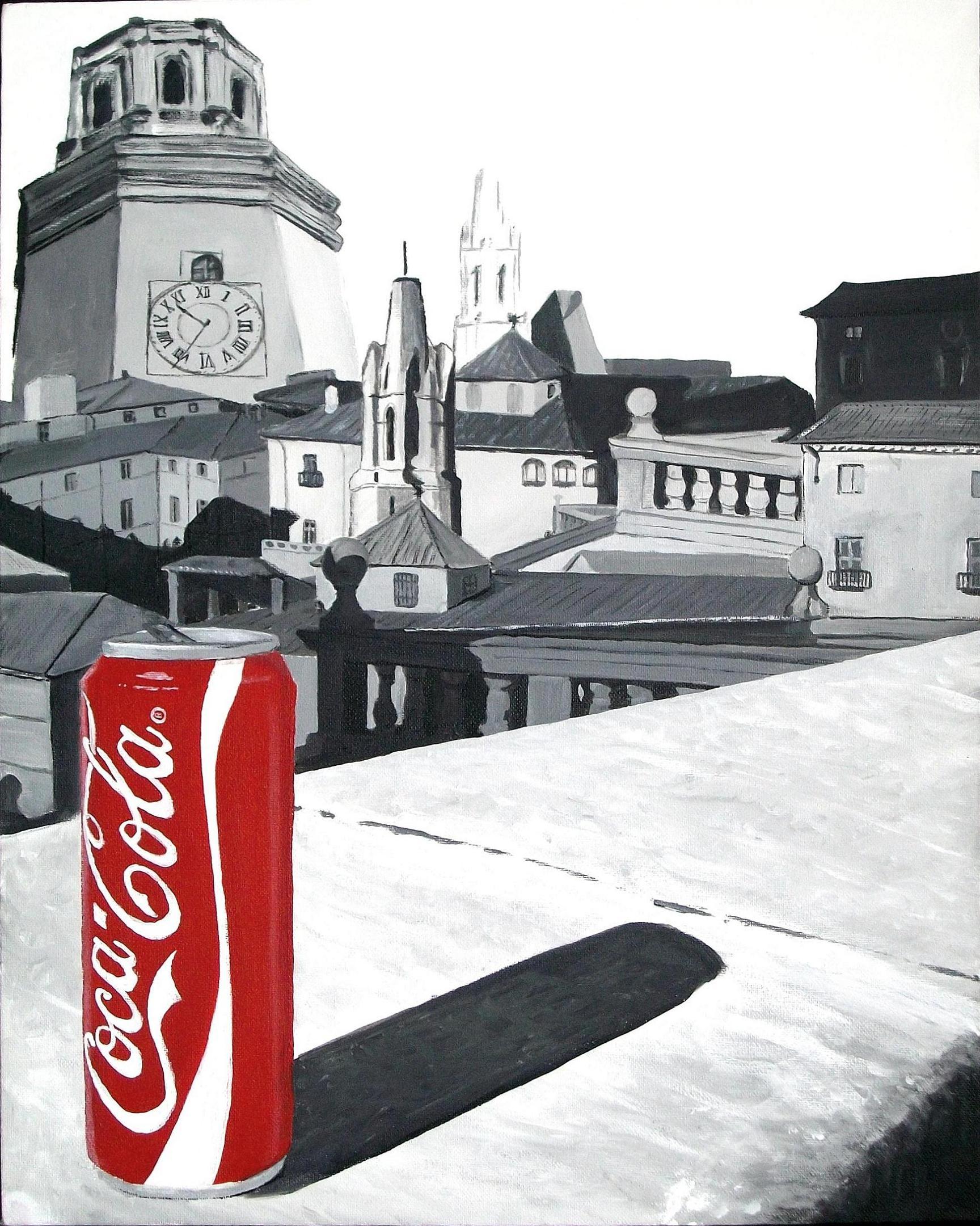 Coke can in Girona, Spain