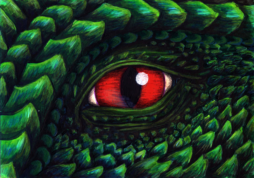 chinese dragon eyes