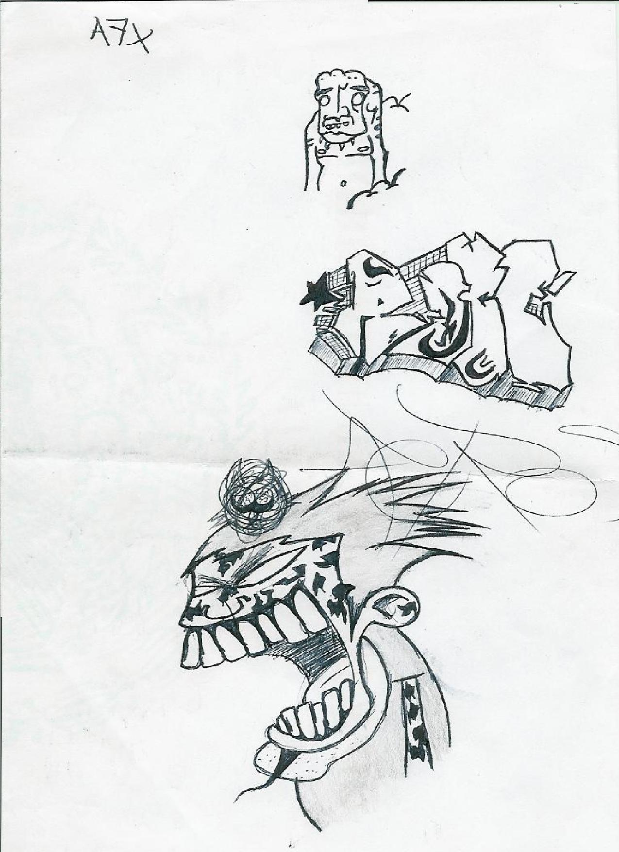 Sasuke Uchiha graffiti version