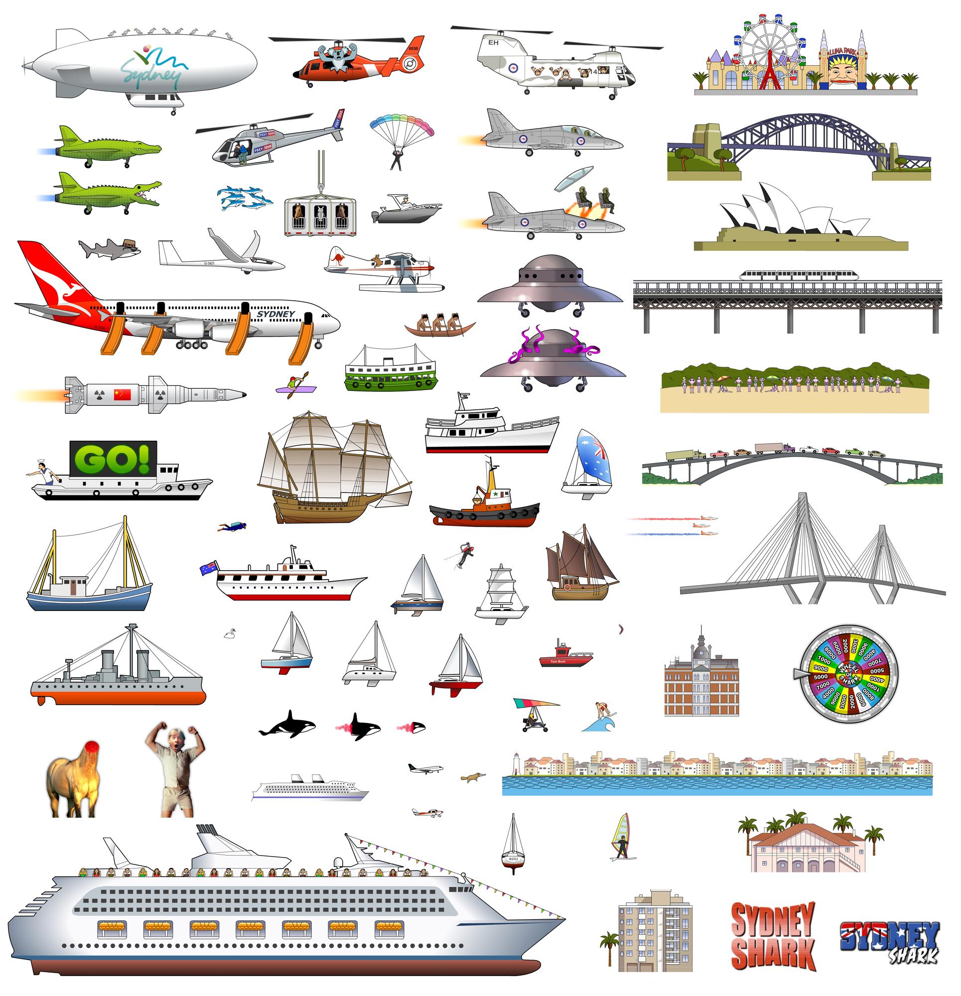 Sydney Shark game artworks