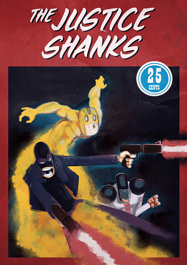 The Justice Shanks Comic Cover