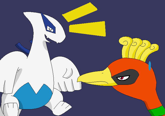 Ho-oh and Lugia