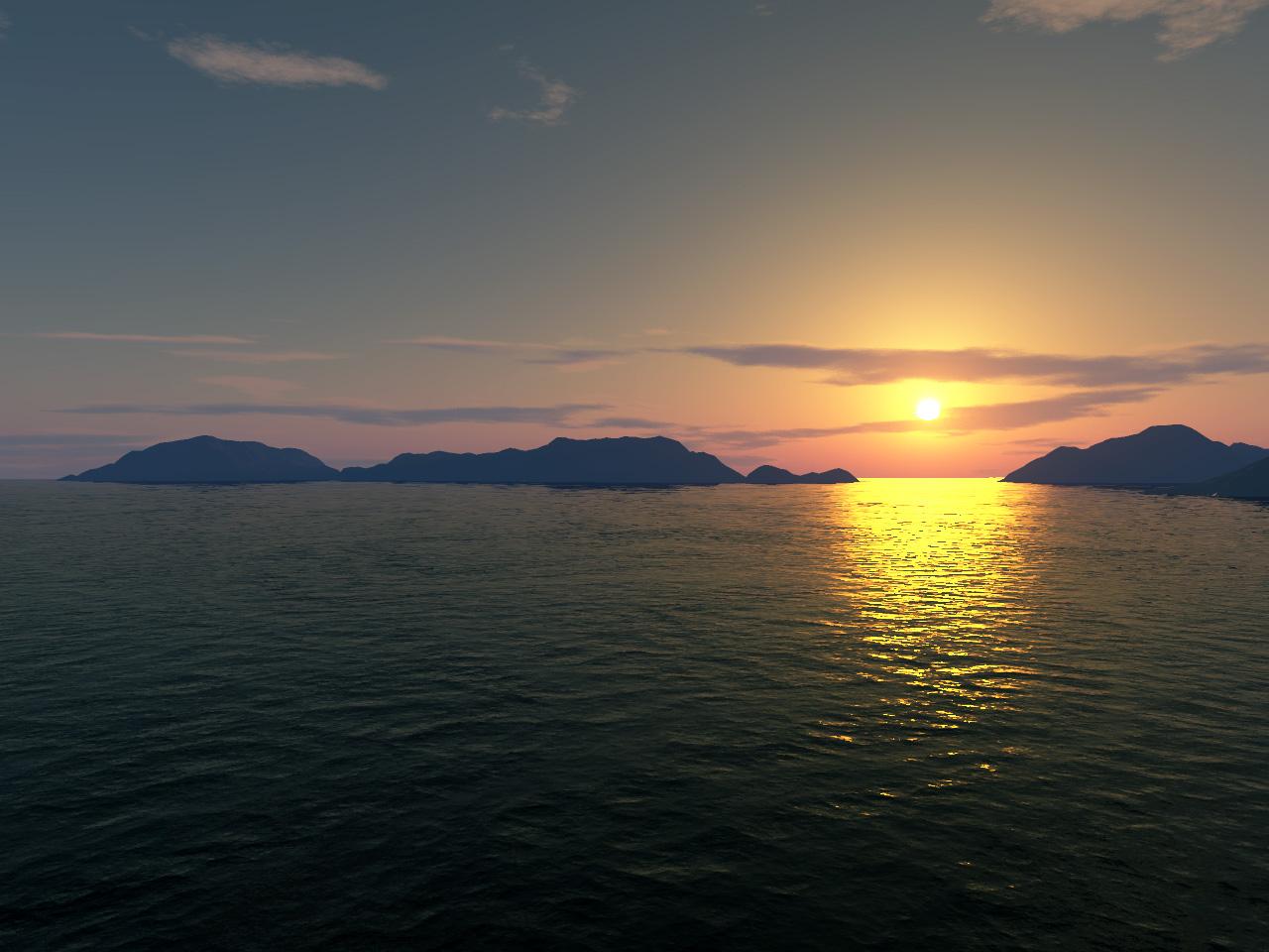 Bubblecube's sunset
