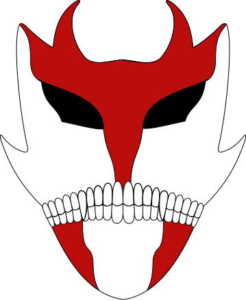 Vizard mask , red devil