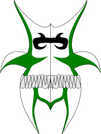 Vizard mask, green writhing