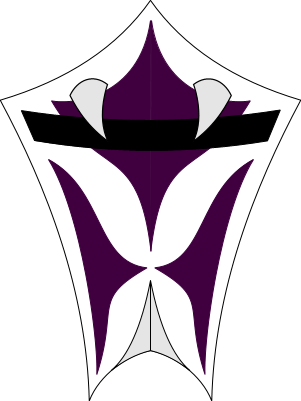 Vizard mask, purple beast