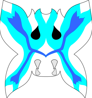 Vizard mask, butterfly blue