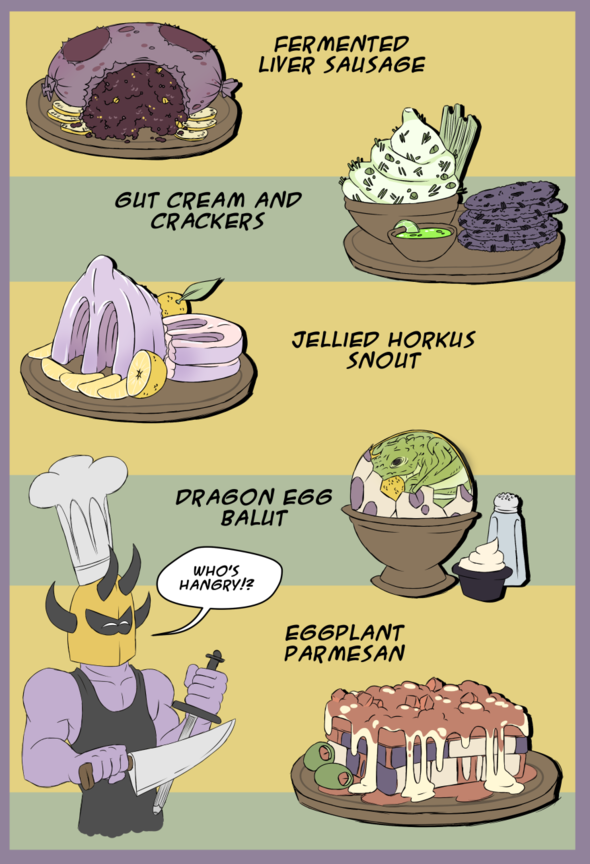 Quarnuckle barbarian food by americanrobot on newgrounds for Art and appetite american painting culture and cuisine