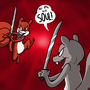 Squirrel Sword Fight by DarkShadow8181