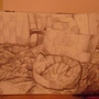 My Cat Sleeping (pencil art) by jackbliss