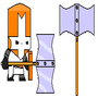 Castle Crashers Orange Knight2 by ShadowClaw625