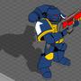 Space Marine 40k by Darkbladecr
