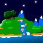 Night Time Island by UltraEd12