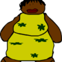 Fat african-american woman by wobbo