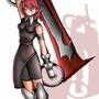 Random girl with a sword by kiiryu