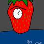StrawBerry Clock Caveman by heavydee