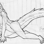 Sexy dragon WIP by SukottoDeragon