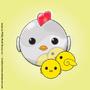 Metallic Chicken & her Chicks by truebluecreature