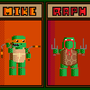 TMNT CHIBI PIXELATED by Danigan