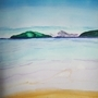Beach Landscape (Watercolour) by Pelemus-McSoy