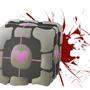 Companion Cube by PsychicDinosaur