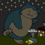 Snorlax! Don't eat it! by gwokymarla