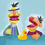 Bert and Ernie by Oobar