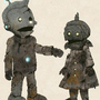 gretel and hansel Robots by djkingdb
