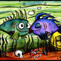 Mr. & Mrs. Frankenfish by thewizardess