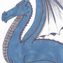 Blue Dragon by darkenedlover666