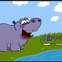Benjamin the Happy Hippo by Mieshka