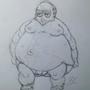 Fat Guy Sketch by jaymanimation