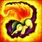 Cyndaquil uses Flame Wheel
