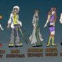 Temporary insanity characters. by Insanelyzanter