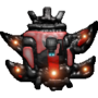 Red C12S Spaceship by gintasdx