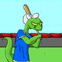 Baseball Lizard by pradatb