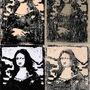 Mona Lisa Linocut by llamamessanger