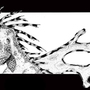 Reptilia - (B/W Stipple) by MikeE462