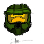Master chief Helmet by IceCreAmimator