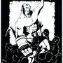 Hellboy vs poopyguys by TheKillustrator