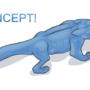 Little Blue Dragon by WalkingShrub