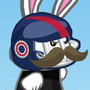 Bunny with Mustache by ethannat
