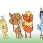 The Eevees by Chickenlump